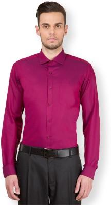 Mark Taylor Men's Solid Formal Red Shirt
