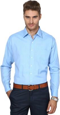 Shaftesbury London Men's Solid Casual Blue Shirt