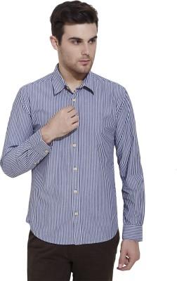 Slub By INMARK Men's Striped Casual Grey Shirt