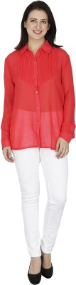 Svt Ada Collections Womens Solid Casual Red Shirt