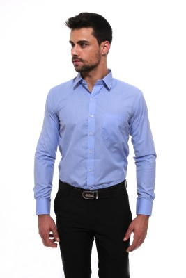 Jermyn Crest Men's Solid Formal Light Blue Shirt