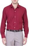 PSK Men's Solid Formal Maroon Shirt