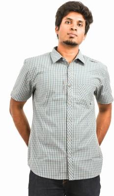 Argyle Men's Checkered Casual Green Shirt