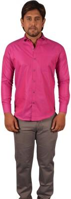 Koridor Men's Solid Formal Pink Shirt