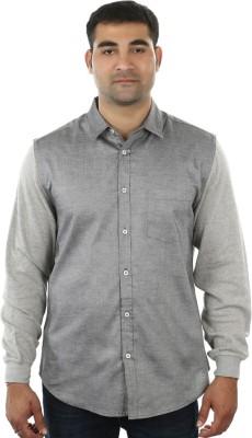 I cube club Men's Solid Casual Grey Shirt