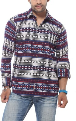 Roger Clothier Men's Printed Casual Multicolor Shirt