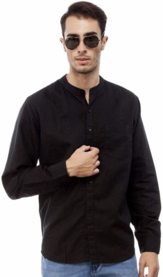 Red Tape Men's Solid Casual Black Shirt