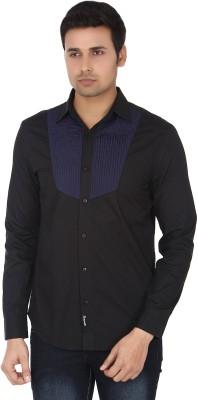 Suchos Men's Solid Casual Black Shirt