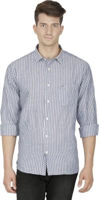 Kingswood Men's Striped Casual Blue, Black Shirt