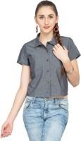 Alibi Women's Solid Casual Grey Shirt best price on Flipkart @ Rs. 500