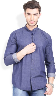 Urban Attire Men's Checkered Casual Blue Shirt