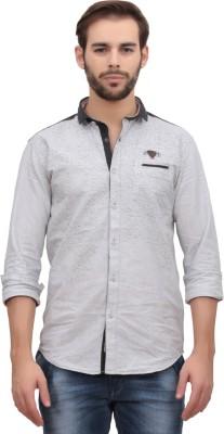 Volume Zero Men's Printed Casual White Shirt