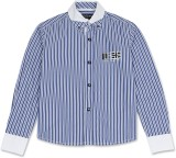 London Fog Boys Striped Casual Blue Shir...