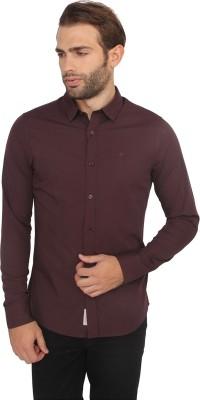 Calvin Klein Men's Solid Casual Maroon Shirt