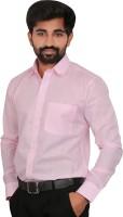 Caris Formal Shirts (Men's) - Caris Men's Solid Formal Pink Shirt