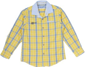 FOW Boys Checkered Casual Multicolor Shirt