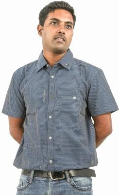 Argyle Men's Checkered Casual Blue Shirt