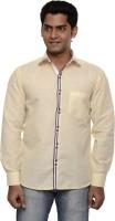 Ach Fashion Formal Shirts (Men's) - Ach Fashion Men's Self Design Formal Yellow Shirt