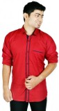 Hd Rascals Men's Solid Casual Red Shirt