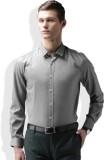 Invictus Men's Self Design Formal Grey S...
