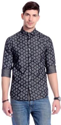 Goodkarma Men's Printed Casual Black Shirt
