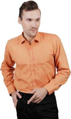 Jorzzer Roniya Men's Solid Casual Orange Shirt