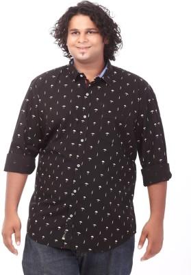 Ciroco Men's Printed Casual Black Shirt