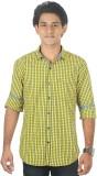 Lapilvi Men's Checkered Casual Yellow, B...