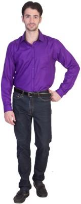 Yachna Desigen Men's Solid Casual Purple Shirt