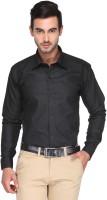 Ausy Formal Shirts (Men's) - Ausy Men's Solid Formal Black Shirt