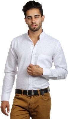 S9 Men's Self Design Festive, Formal, Party, Wedding, Casual White Shirt