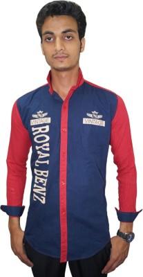 Ali Darzi Men's Printed Casual Maroon Shirt