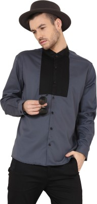 Yepme Men's Solid Party Grey Shirt