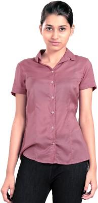 Eighteen27 Women's Solid Casual Pink Shirt