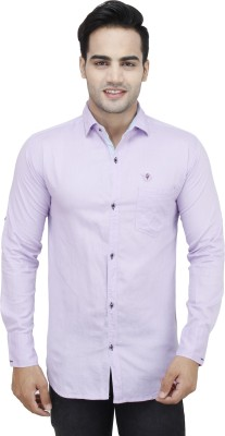 Design Craft Men's Solid Casual Reversible Pink Shirt