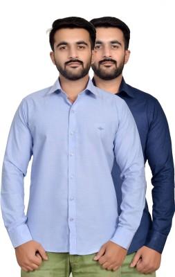 VAPE Men's Solid, Solid Casual Linen Light Blue, Blue Shirt
