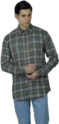 Baba Rancho Men's Checkered Casual Green Shirt