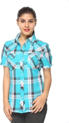 Fashion By Netanya Women's Checkered Casual Multicolor Shirt