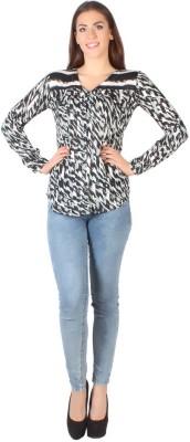 Kg&S Casual Sleeveless Printed Women's Black Top