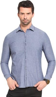 Leo Sansini Men's Solid Casual Grey Shirt