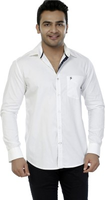 Jazzup Men's Solid Casual White Shirt