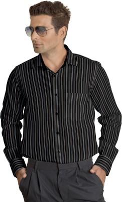 Willmohr Men's Striped Formal Multicolor Shirt