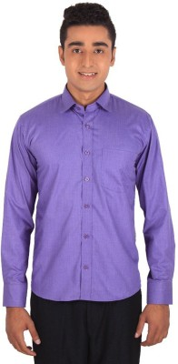 Henry Spark Men's Solid Casual Purple Shirt