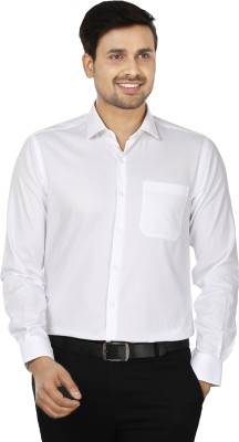 Wills Lifestyle Men's Solid Formal White Shirt