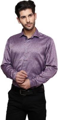 Thousand Shades Men's Floral Print Casual Purple Shirt
