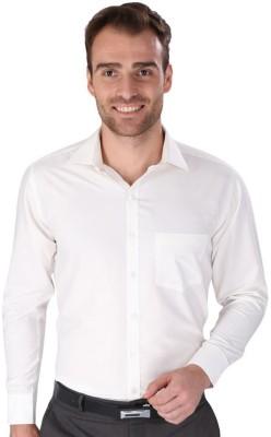 Magson Elite Men's Solid Formal White Shirt