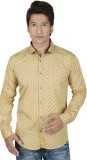 Red Touch Men's Printed Casual Beige Shi...