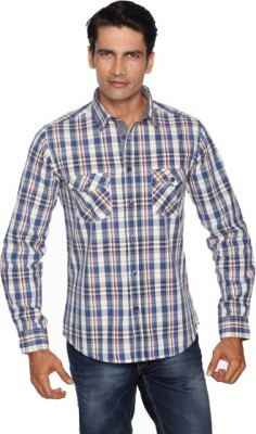 Daddy's Capes Men's Checkered Casual Blue Shirt
