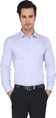 Devaa Men's Solid Formal Purple Shirt