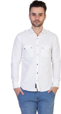 Threadikshion Men's Solid Casual White Shirt
